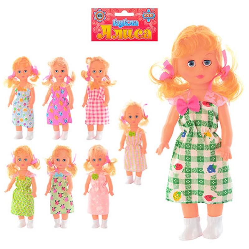 Кукла 1010 (216шт) Алиса, 25см, 8 видов, в кульке, 11,5-32-3см