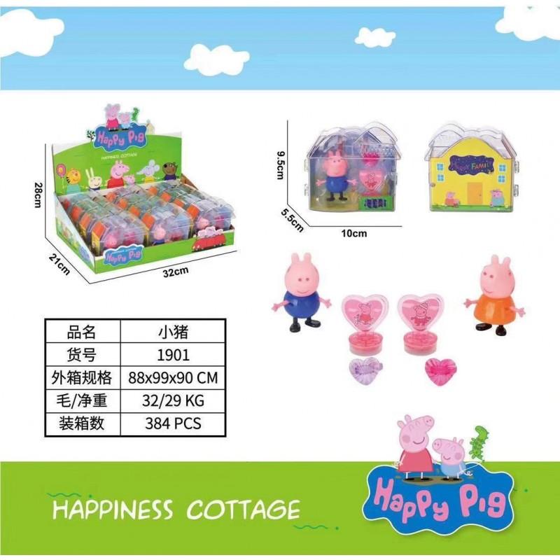 �гровой набор Свинка Пеппа1820 в пластиковом домике  9*9*4см
